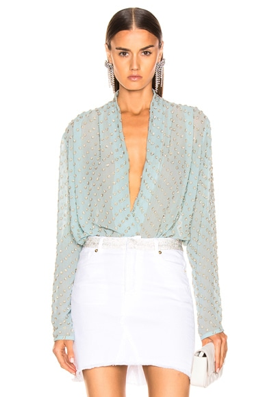 Embellished Wrap Bodysuit