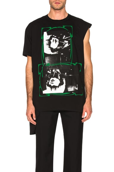Open Side Graphic Tee