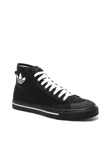 x Adidas Canvas Matrix Spirit High Sneakers