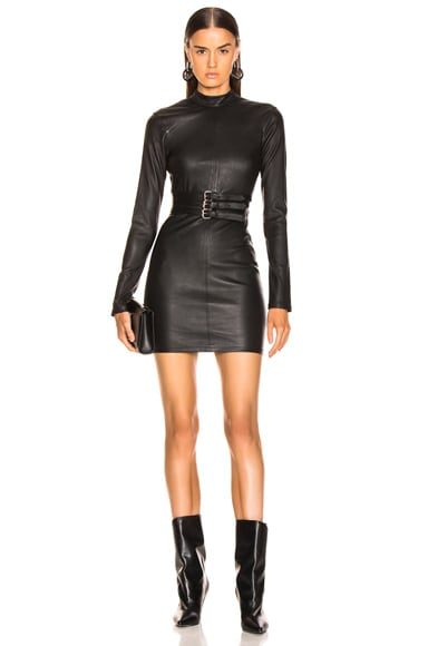 Domino Leather Dress