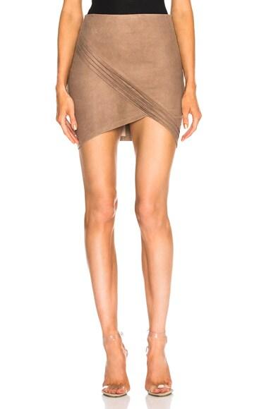 Blossom Leather Skirt