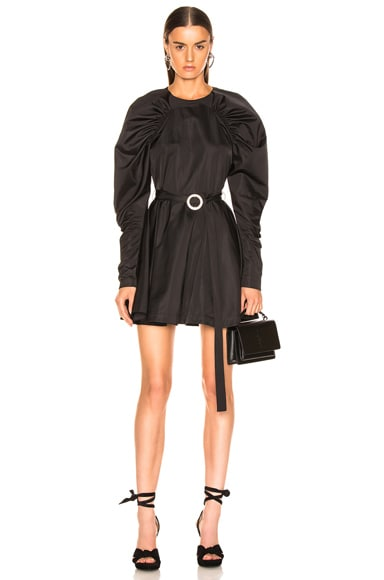 Puff Sleeve Belted Mini Dress
