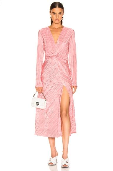 Pleated Long Sleeve Dress