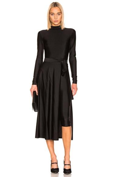Tie Long Sleeve Dress