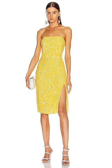 RetrofÉTe Arryn Dress In Yellow