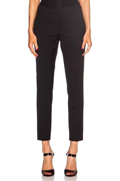 Virgin Wool-Blend Trouser Pants