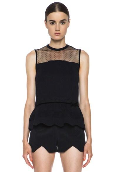 Lace Knit Peplum Top