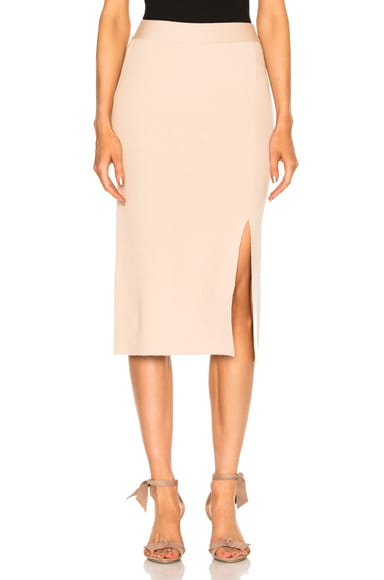Bottom Slit Fitted Skirt