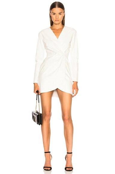 Giada Leather Wrap Dress