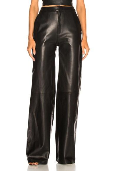 Josephine Wide Leg Leather Pants