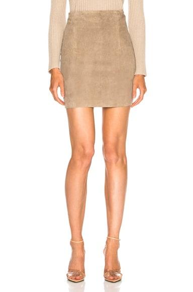 Lisa Suede Mini Skirt