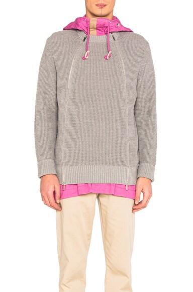 Chunky Knit Blouson