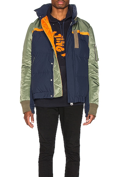 Nylon Twill Down Jacket