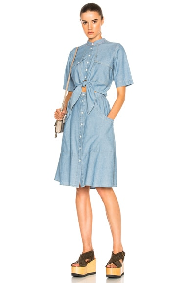 Tie Front Short Sleeve Dress