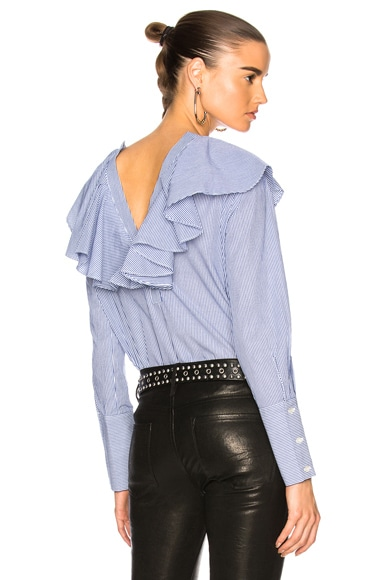 Open Back Ruffle Top