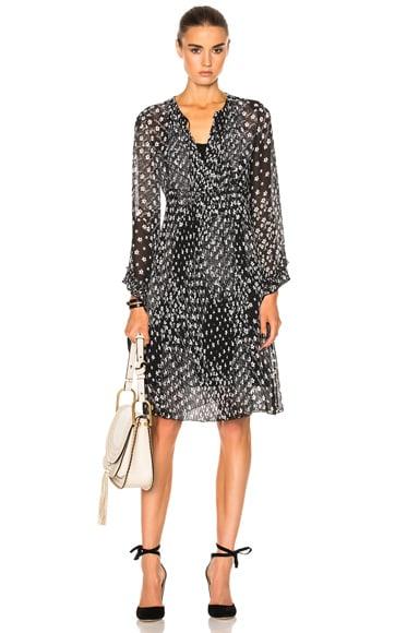 Long Sleeve Printed Midi Dress