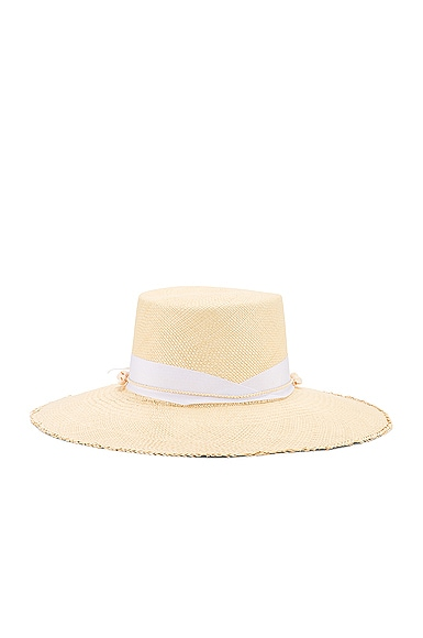 Cordovez Hat With Straw & Seashell Detail