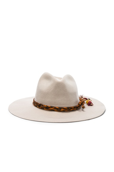 Classic Long Brim Hat with Cabuya Band Braid