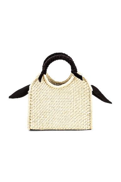 Midi Handbag With Velvet Detail