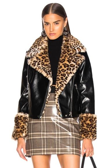 Faux Fur & Leather Maisie Jacket