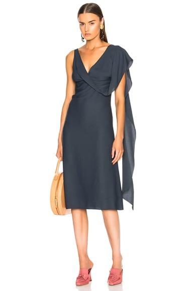 Etta Marocain Drape Front Dress