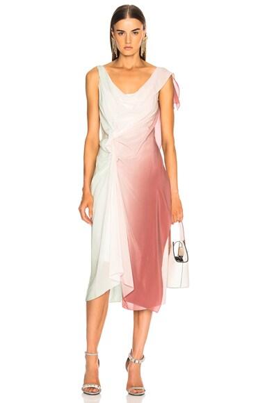 June Off Shoulder Rosette Dress