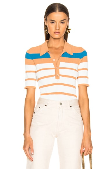 Rory Collared Short Sleeve Knit Top