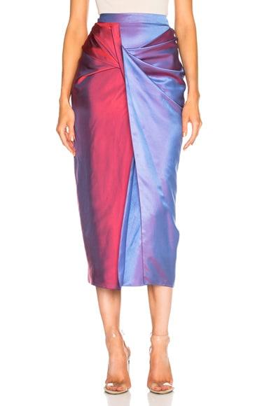 Libbie Iridescent Twist Skirt