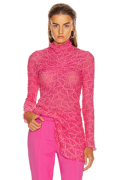 Willie Ruched Long Sleeve Top