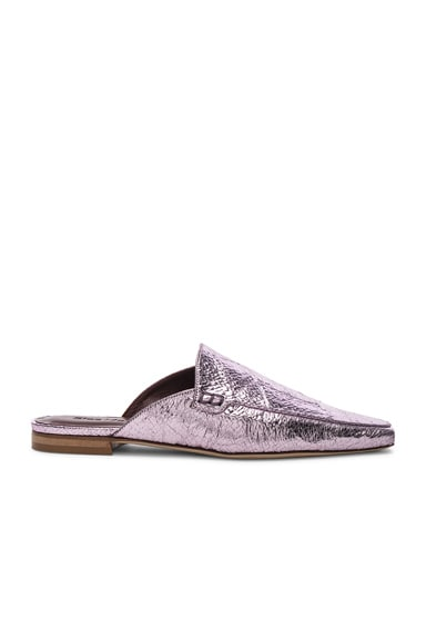 Lia Metallic Pointed Mule