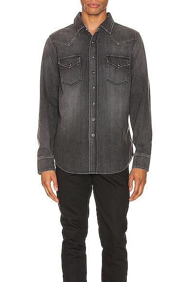 Classic Western Denim Shirt