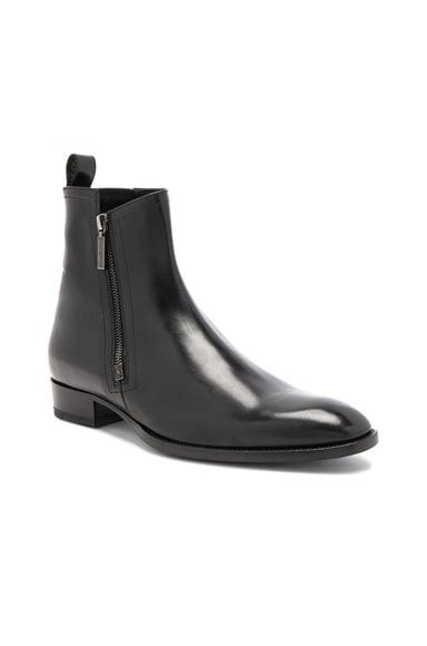 Leather Wyatt Zip Boots