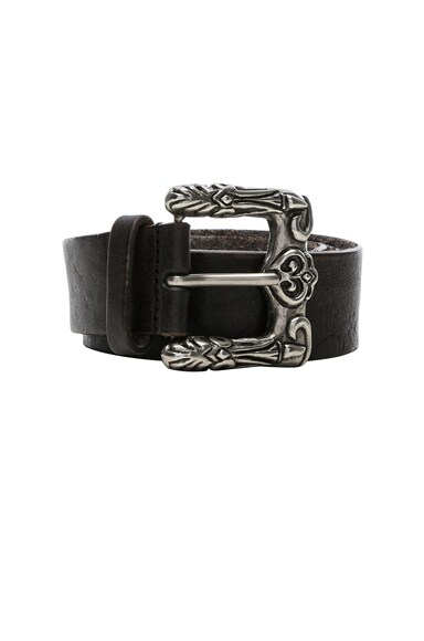Celtic Engraved Buckle Belt