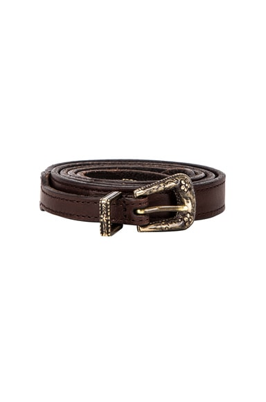 Thin Western Leather Belt