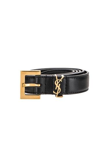 Leather Monogramme Belt