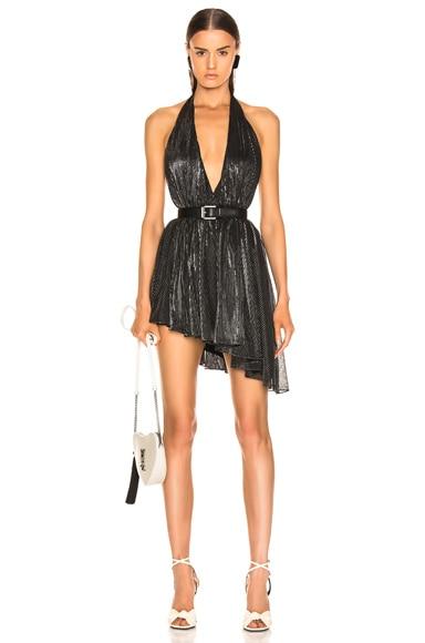 Asymmetrical Plunging Mini Dress