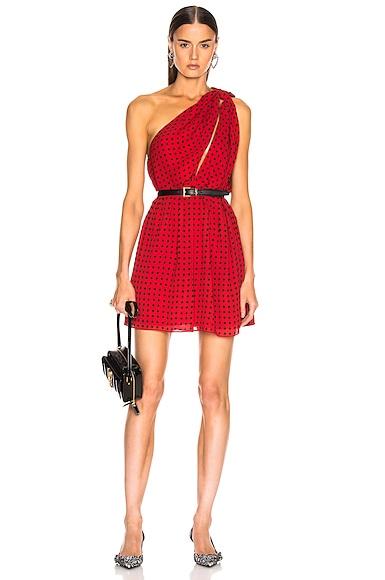 2ccefb6fd22 Star One Shoulder Dress Star One Shoulder Dress. Saint Laurent