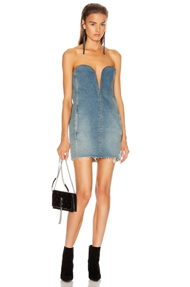 Bustier Denim Dress