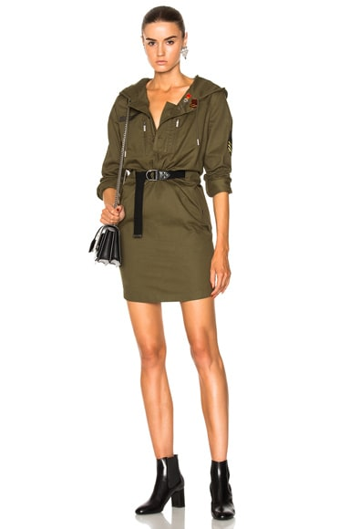 Hooded Parka Mini Dress