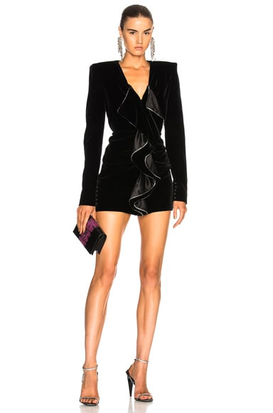 Velvet Cupro Compact Mini Dress