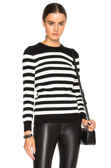 Crew Neck Stripe Pullover