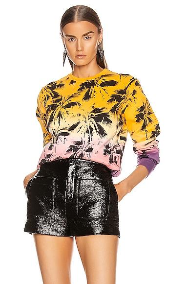 Deep Dye Palms Sweater