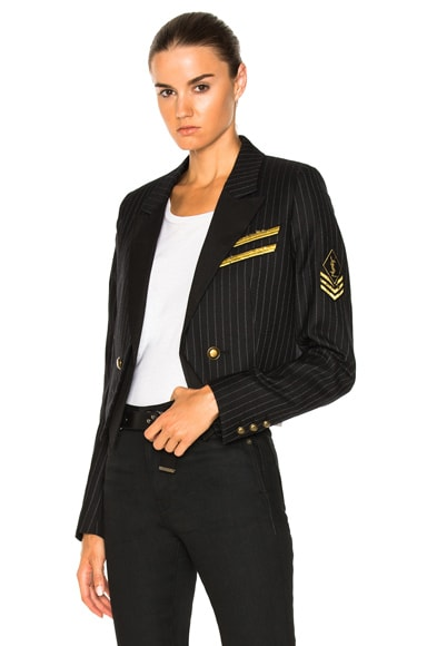 Pinstripe Military Jacket