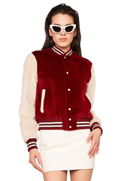 Mink Fur Teddy Bomber Jacket