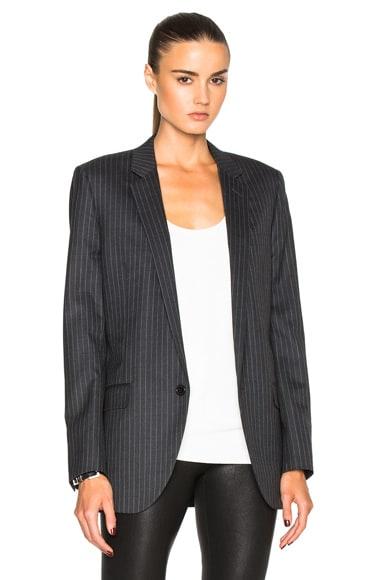 Oversize Pinstripe Blazer