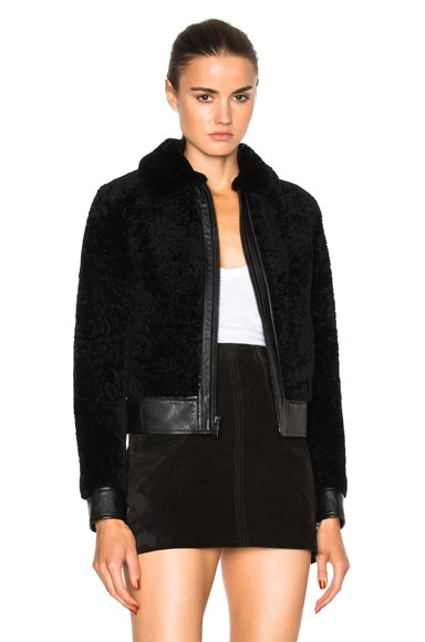 Lamb Shearling Bomber Jacket