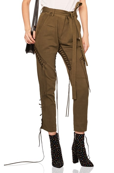 Lace Up Military Gabardine Pants