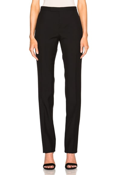 Low Waist Gabardine Trousers