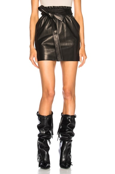 Vintage Leather Mini Skirt
