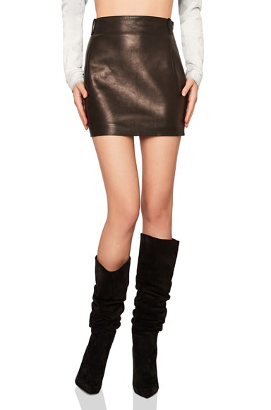 Classic Vintage Leather Mini Skirt